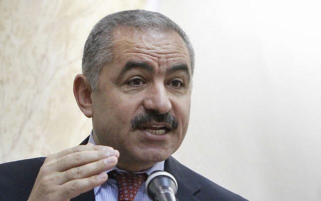Palestinian negotiator Mohammad Shtayyeh, June 2011 (Miriam Alster/Flash90)