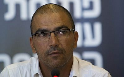 Haim Revivo seen at a press conference for the new soccer league season in the Jerusalem municipality on July 31, 2013. (Yonatan Sindel/Flash90)
