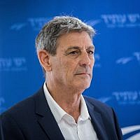 Former Mossad director Ram Ben-Barak at the Knesset, January 15, 2018. (Yonatan Sindel/Flash90)