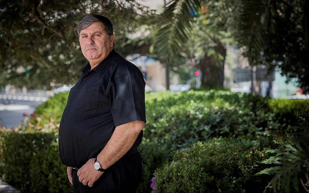 Chairman of KKL-Jewish National Fund Danny Atar poses for a picture in Jerusalem on July 30, 2018. (Yonatan Sindel/Flash90)