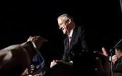 Benny Gantz at the launch of his Israel Resilience party Knesset list, in Tel Aviv on February 19, 2019. (Tomer Neuberg/Flash90)