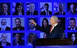 Prime Minister Benjamin Netanyahu at the launch of his Likud party's election campaign in Ramat Gan, March 4, 2019.(Aharon Krohn/Flash90)