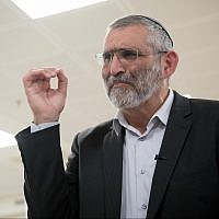 Otzma Yehudit leader Michael Ben Ari attends a Central Elections Committee meeting at the Knesset on March 6, 2019. (Noam Revkin Fenton/Flash90)