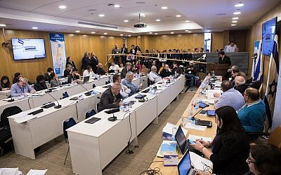 View of the Central Elections Committee at the Knesset, March 6, 2019. (Noam Revkin Fenton/Flash90)