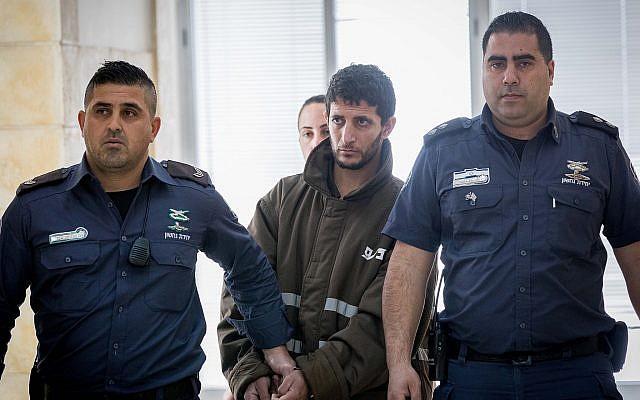 Arafat Irfaiya at the Jerusalem District Court on March 7, 2019. (Yonatan Sindel/Flash90)