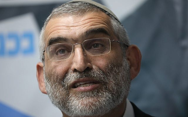 Otzma Yehudit party member Michael Ben Ari speaks during a press conference held in response to the High Court decision to disqualify his candidacy for the upcoming Knesset elections. (Yonatan Sindel/Flash90)
