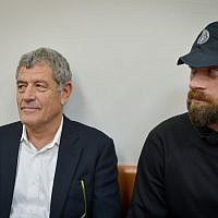 Miki Ganor, arrested in the submarine affair also known as  'Case 3000,' appears at Rishon Lezion Magistrate's Court, March 20, 2019 (Flash90)