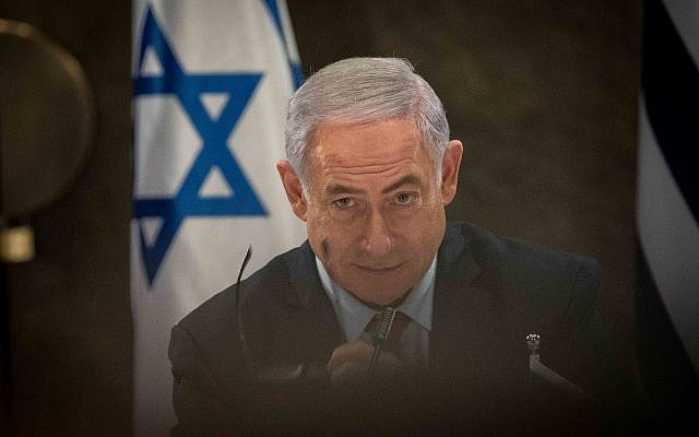 Prime Minister Benjamin in Jerusalem, on March 20, 2019. (Noam Revkin Fenton/Flash90)