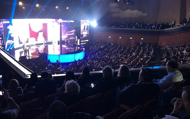 Full house at OurCrowd 2019 summit in Jerusalem (Shoshanna Solommon/Times of Israel)