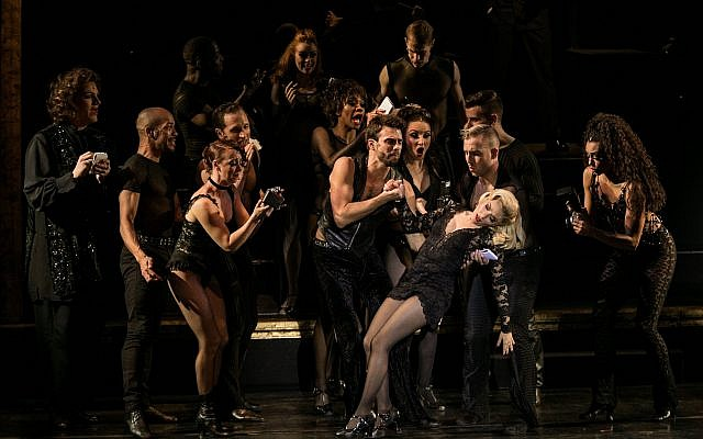 Shiri Maimon's first English-speaking role, in 'Chicago,' now in Tel Aviv (Courtesy Orit Pnini)