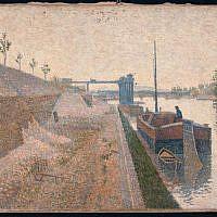 Paul Signac, Quai de Clichy (date unknown). (courtesy: German Lost Art Foundation)