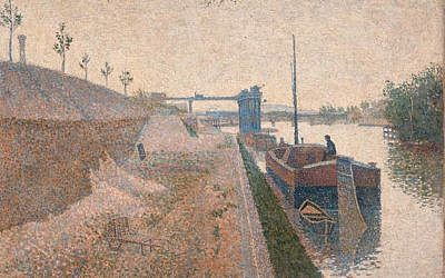 Paul Signac, Quai de Clichy (date unknown). (courtesy: German Lost Art Foundation)