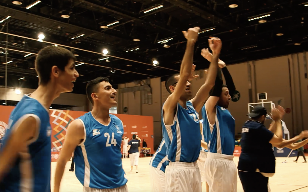 72e072cd6f8 Israeli basketball team marching toward gold at Abu Dhabi Special Olympics  | The Times of Israel