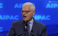 AIPAC CEO Howard Kohr speaks at the AIPAC policy conference in Washington DC on March 24, 2019 (AIPAC screenshot)