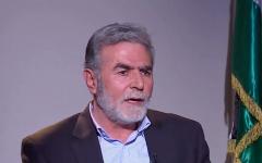 Islamic Jihad secretary-general Ziad Nakhala speaking to an Arabic TV station on December 12, 2018. (Credit: Al-Ghad TV)
