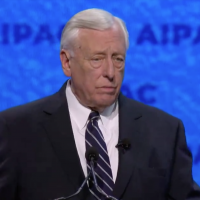 Steny Hoyer speaks at the AIPAC policy conference, March 24, 2019 (AIPAC screenshot)