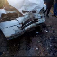 One of the vehicles involved in a fatal wreak on Route 7955 in northern Israel on March 29, 2019. (United Hatzalah)