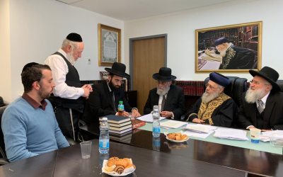 A special rabbinical court meets to determine the marital status of the wives of two Israeli men who died in the crash of an Ethiopian Airlines plane. (Chief Rabbinate of Israel)