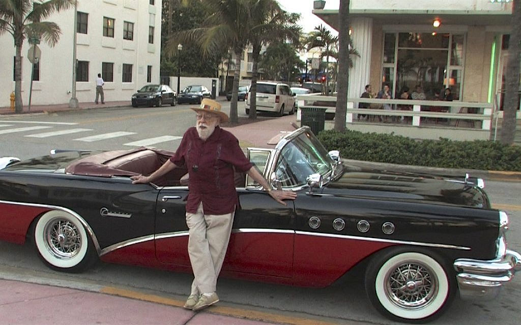 Musician Rey 'Mambo Marvin' Baumel, on Ocean Drive in Miami, from 'The Mamboniks.' (Courtesy Lex Gillespie)