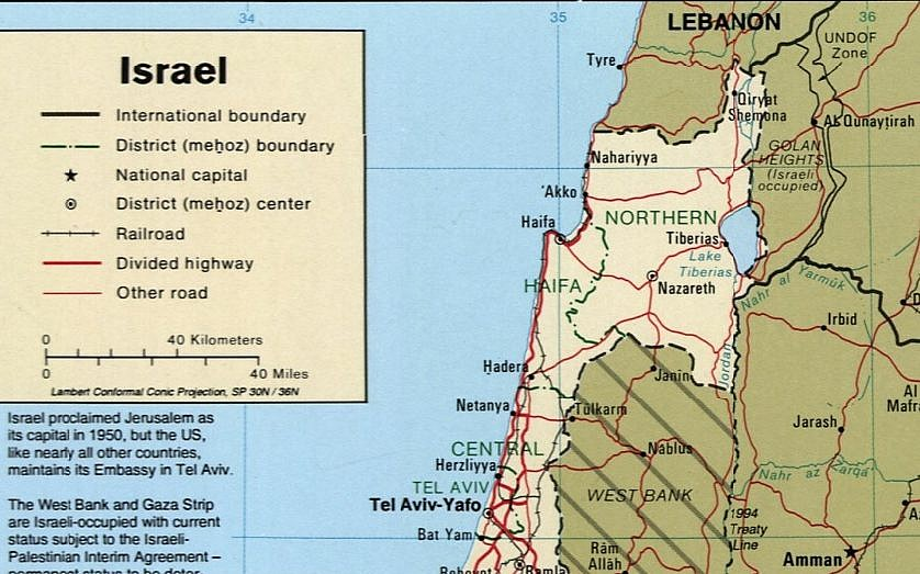 Israel On A Map US redrawing official maps to include Golan as part of Israel