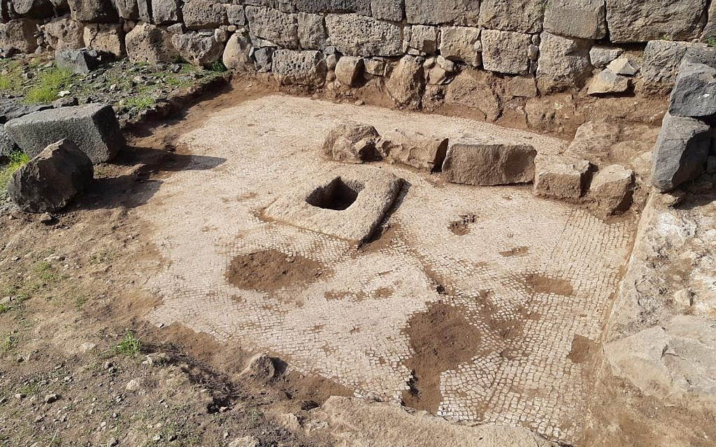 Talmud-era winepress, mosaic unearthed in Jewish village condemned by Jesus