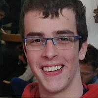 An undated picture of IDF soldier Gal Keidan, who was killed in a shooting attack in the northern West Bank on March 17, 2019.  (IDF Spokesperson)