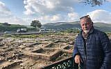 Dr. Yehuda Govrin, director of the excavations at Tel Beit Shemesh, March 17, 2019. (Amanda Borschel-Dan/Times of Israel)