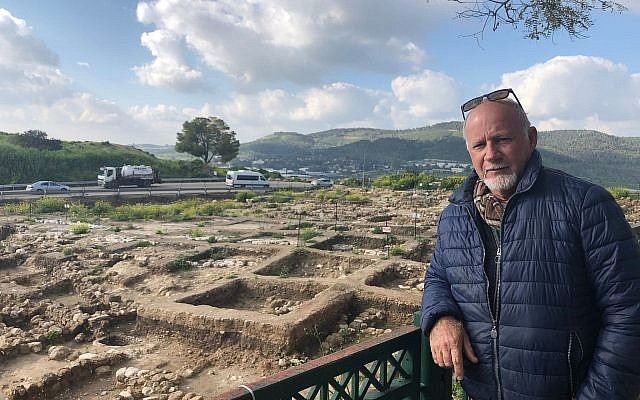 Dr. Yehuda Govrin, director of the excavations at Tel Beit Shemesh, March 17, 2019. (Amanda Borschel-Dan/Times of Israel)