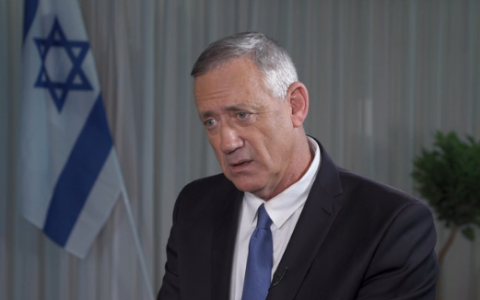 Blue and White party chief Benny Gantz (Channel 12 news)