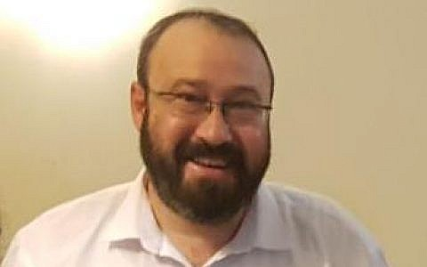 Rabbi Achiad Ettinger, who was shot March 17 at the Ariel junction and succumbed to his injuries the following day (Nadav Goldstein/TPS)