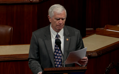 Rep. Mo Brooks of Alabama reads from 'Mein Kampf' in Congress, March 25, 2019 (YouTube screenshot)