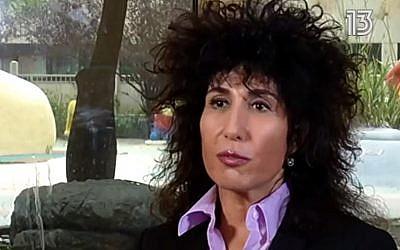 Yifat Ben Hai Segev. (screen capture: Channel 13)