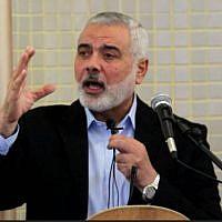 Hamas political bureau leader Ismail Haniyeh (Hamas website)