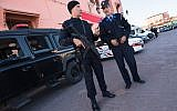 Illustrative - Moroccan police stand guard in Jemaa el-Fnaa, the central market plaza in Marrakech, Morocco, November 10, 2016. (Getty Images)