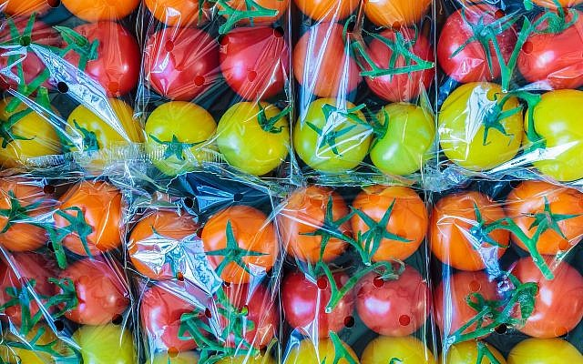 Tomatoes wrapped in plastic. (DutchScenery/ iStock/Getty)