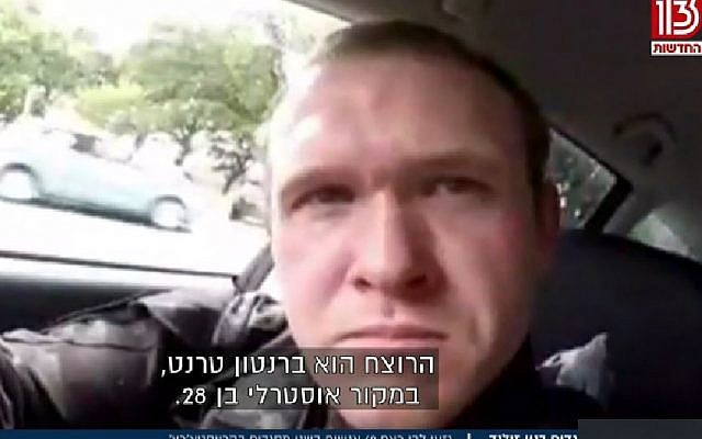 The self confessed attacker of the New Zealand Mosques, Brenton Tarrant, a 28-year-old fitness trainer from Australia (Screencapture/Channel 13)