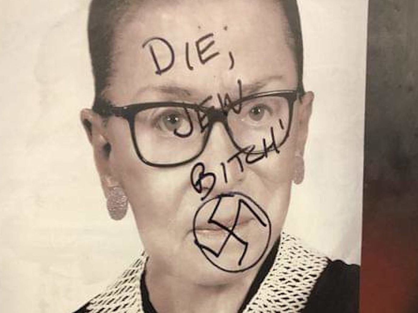 Swastikas Found In Same Brooklyn Neighborhood As Bader Ginsburg