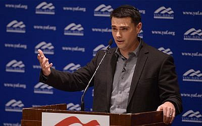 Conservative commentator Ben Shapiro addresses the student group Young Americans for Freedom at the University of Utah's Social and Behavioral Sciences Lecture Hall, September 27, 2017, in Salt Lake City. (Leah Hogsten/The Salt Lake Tribune via AP, Pool)