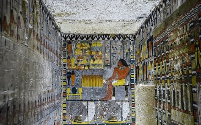 Egypt unveils Fifth Dynasty tomb adorned with colourful reliefs