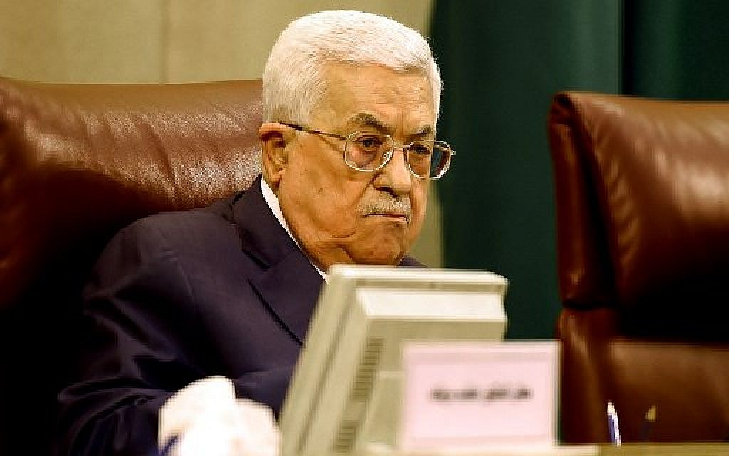At Arab League, Abbas accuses Netanyahu of not 'believing in peace'