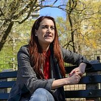 Venezuelan-American comedian, writer, and actress Joanna Hausmann during an interview in Central Park in New York on April 17, 2019 (Don Emmert / AFP)