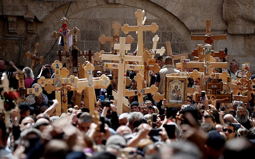 A week after Western brethren, Orthodox Christians mark Good Friday in Jerusalem