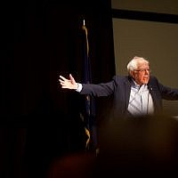 Democratic presidential candidate, US Sen. Bernie Sanders (I-VT) addresses the Pennsylvania Association of Staff Nurses and Allied Professionals at the Mohegan Sun Pocono on April 15, 2019 in Wilkes Barre, Pennsylvania. (Mark Makela/Getty Images/AFP)