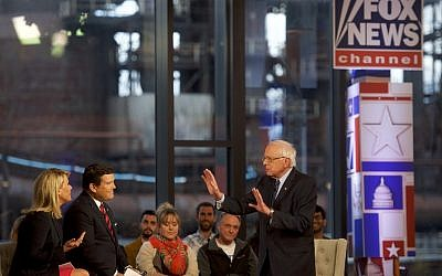 Democratic presidential candidate, US Sen. Bernie Sanders (Independent of Vermont) participates in a FOX News Town Hall at SteelStacks on April 15, 2019 in Bethlehem, Pennsylvania. (Mark Makela/Getty Images/AFP)