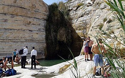 Hikers in the Negev (Meir Orbach/Nature and Parks Authority)