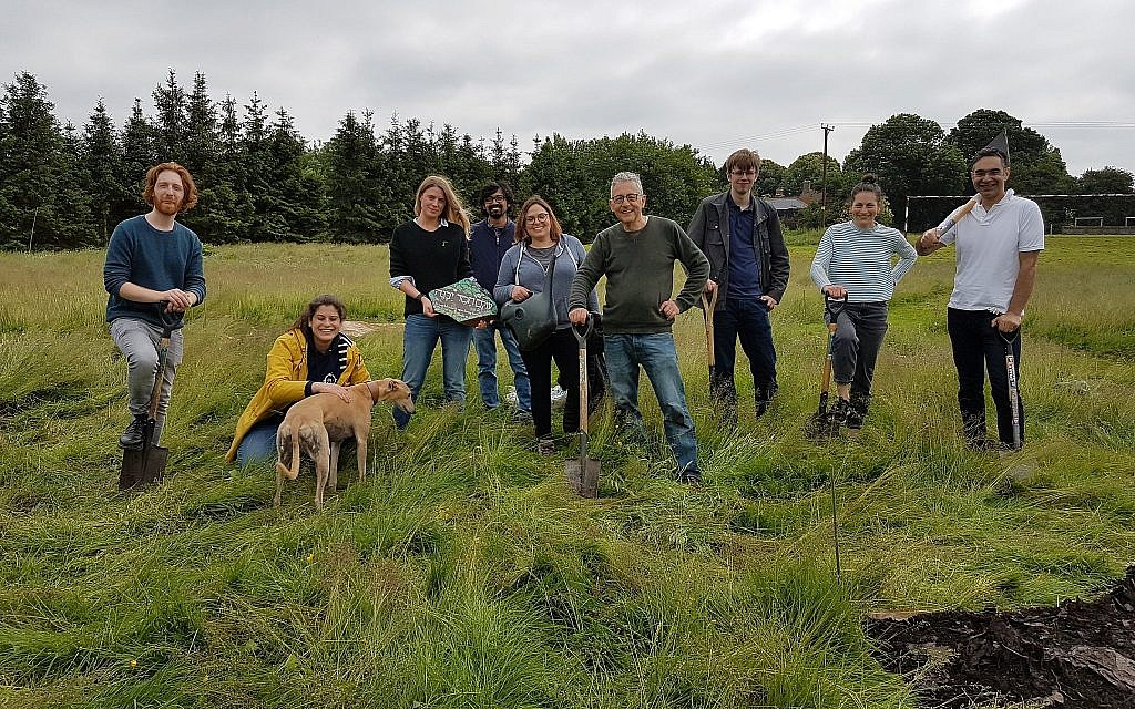 Participants at the Sadeh farm at Skeet Hill outside of London. (Courtesy)