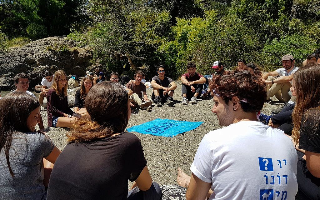 Israelis and foreigners take part in a program run by the organization Israel-is. (Courtesy/Israel-is)