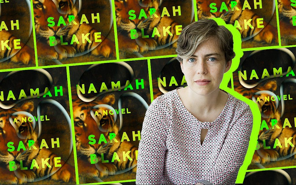 Sarah Blake, author of 'Naamah.' (Collage by Alma/via JTA)