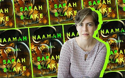 Sarah Blake, author of 'Naamah.' (Collage by Alma/via JTA)