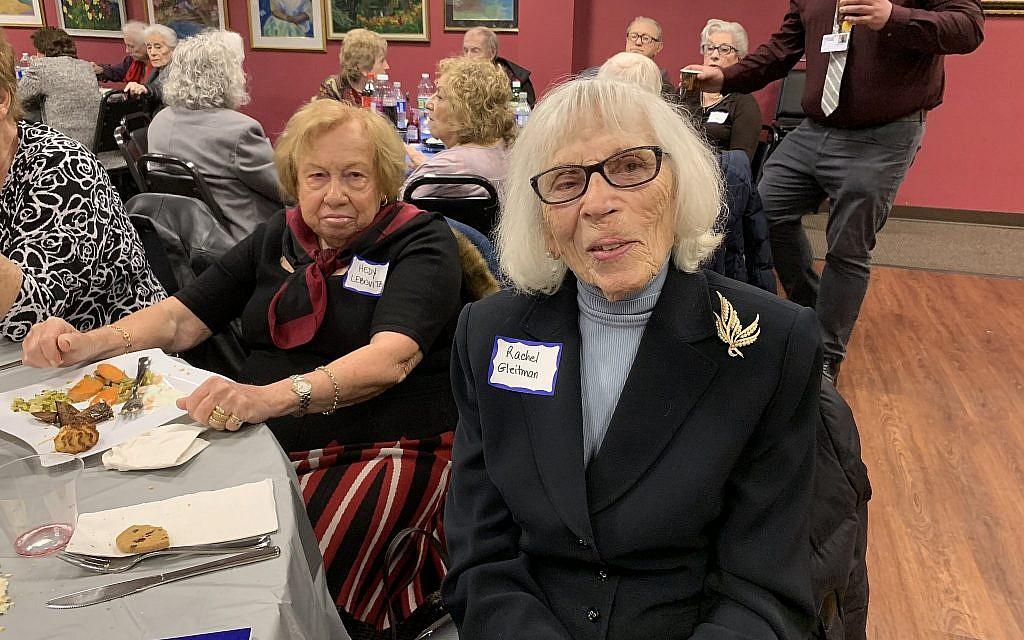 Hedy Lebovitz, left, pictured with Rachel Gleitman, has been going to the seder for around nine years. (Josefin Dolsten)